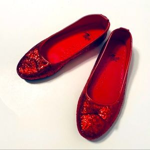 The Wizard of Oz Red Dorothy Flats Slippers